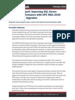 Demartek HPE MSA 2040 SQLServer Evaluation 2016-02