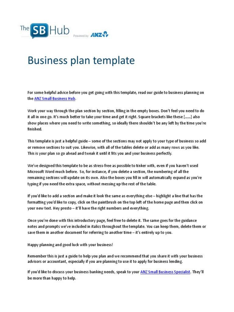 ANZ Business Plan Template | Swot Analysis | E Commerce