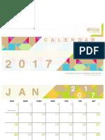 2Printable 2017 Calendars
