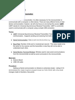 Arduino LAB 2 Serial Communication   Analog To Digital