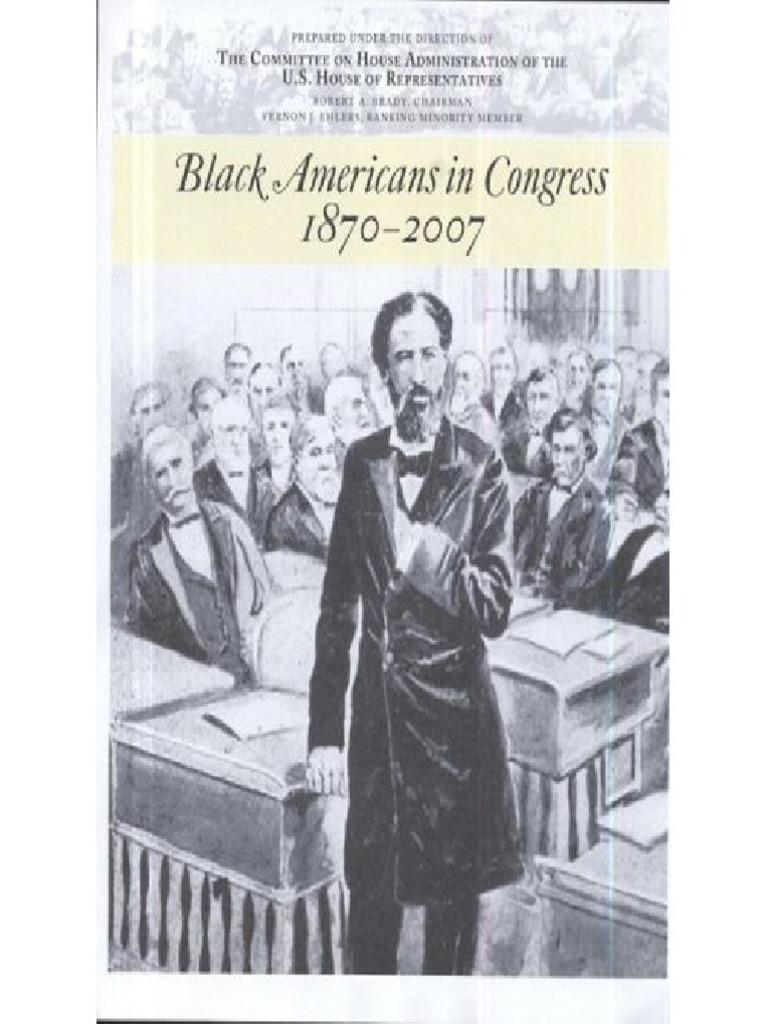 Black Americans In Congress 1870 2007pdf