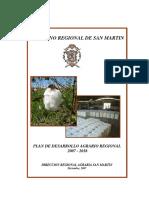Plan de Desarrollo Agrario Regional 2007-2016