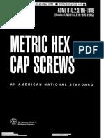 ASME B18.2.3.1M-1999 (Metric HEX Cap Screws)