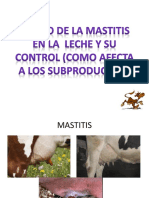 Efecto de La Mastitis en La Leche y