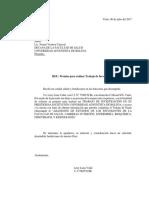 Carta Solicitud de Datos