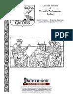 Pathfinder RPG - Latina Facta & Versatile Performance Redux