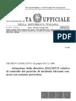 Seveso III Dlgs 105 2015