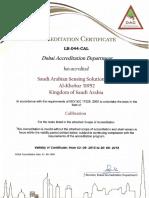 Sassco Certificate