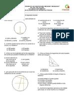 Examen de diagnóstico de matemáticas tercero