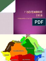 Formarea Statului National Unitar Roman