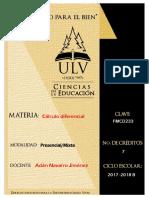 Calculo Diferencial Prontuario 2017