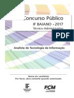 Ifbaiano - Caderno de Prova - Nível Superior - Analista de Tecnologia Da Informação