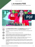 Raisa Barría, La Maestra FIDE