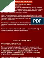 TEMA 6. FLUJO DE AIRE EN MINAS- LEY DE CONTINUIDAD-ECUACION DE BERNOULLI-GRADIENTES DE PRESION.ppt