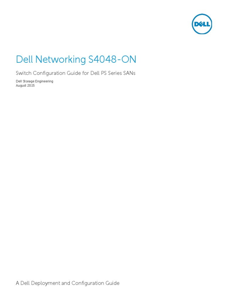 ps series dell networking s4048 on switch configuration guide rh scribd com dell switch n2048 configuration guide dell powerconnect 5324 configuration guide