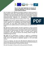Joint Communique - Kenya Elections