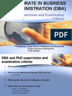 035_DBA Examination Criteria