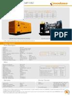 Ficha Tecnica Generador Modasa MP-150