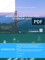 Needs and Wants Analysis Interview Guide