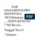 Standar Operasionalprosedurtoga