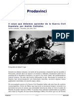 4 Cosas Que Debemos Aprender de La Guerra Civil Espanola Por Andres Canizalez