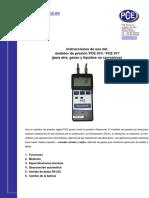Manual Medidor Presion Pce 910 917