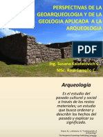 Perspectivas de La Geoarqueologia
