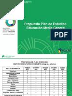 Propuesta Plan de Estudios Educación Media General