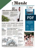 Journal LE MONDE Du Mardi 8 Aout 2017