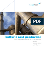 sensotech Sulfuric acid production