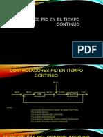 Controladores PID en El Tiempo Continuo