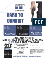 Law of Self Defense Classes