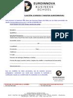 Ficha de Matricula Internacional
