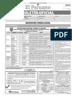 Diario Oficial El Peruano, Edición 9779. 06 de agosto de 2017