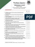 Modelo Evaluacion Psicologia