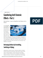 Countering Anti-Forensic Efforts - Part 2