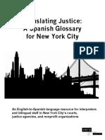 English-SPANISH Glossary Translating-Justice NYC VERA-Institute