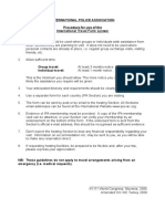 Procedure for the Use of the International Travel Form 2012 (E)
