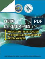 Libro de Resumenes I Jornada de Investigación en Biología con mención en Biotecnología UNJFSC 2017