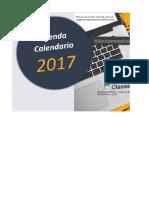 Agenda Calendario 2017 Sin Macros ClasesExcel