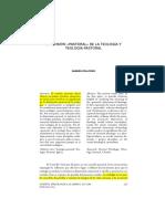 Dimensión «Pastoral» de La Teología y Teología Pastoral