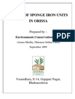 Status of Sponge Iron Units in Orissa