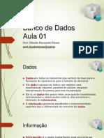 Banco de Dados 2015 Aula01