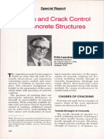 Cracks and Crack Control in Concrete Structures