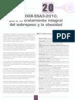 NOM 008 Para el tratamiento integral del sobrepeso y la obesidad
