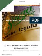 Fabricación Del Tequila