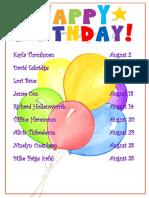 august happy birthday sign