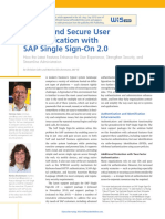 SAP Insider - Simple and Secure User Authentication With SAP Single Sign-On 2.0