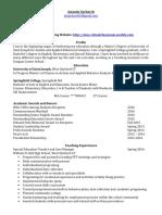 a upchurch resume