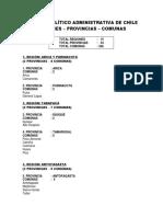División Político Administrativa de Chile